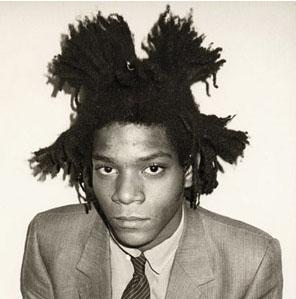 Jean-Michel Basquiat, artiste peintre américain, pionnier du courant créatif underground (photo Andy Warhol 1982)