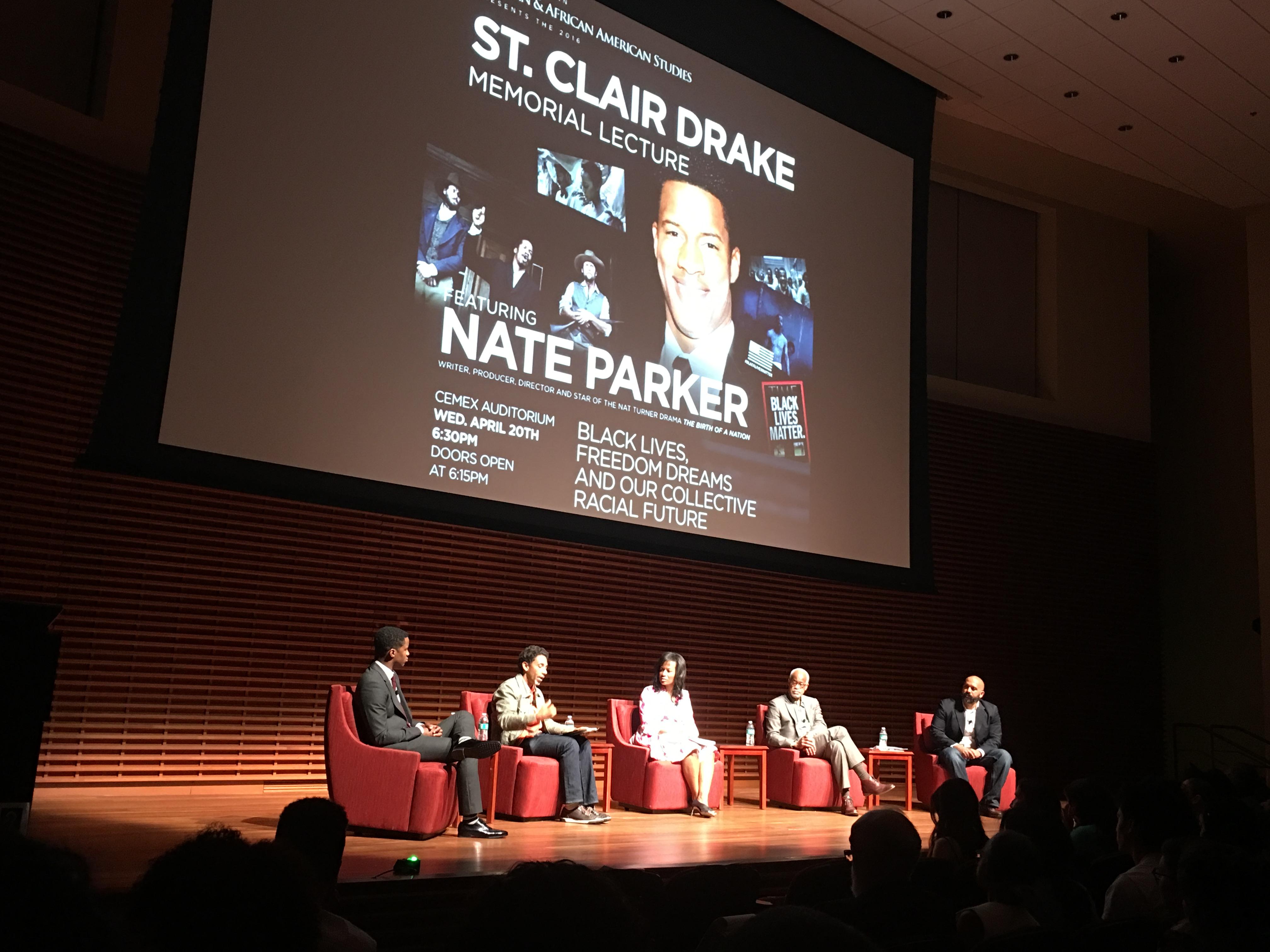 I was at Nate Parker's sensational Stanford event